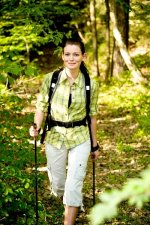 Nordic walking, park, spacer